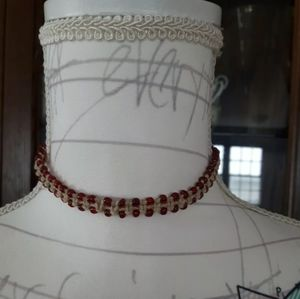Hemp Beaded Handed Made Choker Necklace
